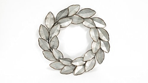 Everydecor Leaf Wreath Metal Wall ()