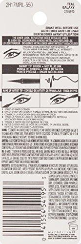 Maybelline New York Master Precise Ink Metallic Liquid Liner, Teal Galaxy, 0.06 Fluid Ounce
