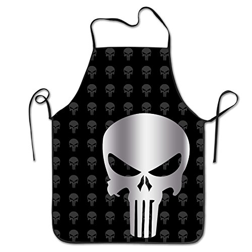[Punisher Skull Kitchen Grilling Apron] (Comic Book Couples Costumes)