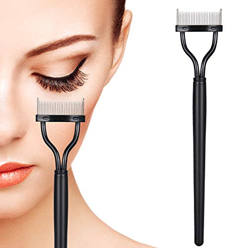 Eyelash Comb, Eyelashes Separator Curler Makeup Mascara Applicator with Comb Cover Long Handle (Eyelash Combs)
