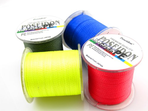 Tri-poseidon Top-Grade Japanese 300m Multifilament Braided Fishing Line 8LB 10LB 15LB 20LB 30LB 40LB 50LB 60LB 80LB 100 LB Green Grey Blue Yellow Red 5 Colors