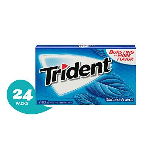 Trident Sugar Free Gum Original, 14 piece pack (24 Packs) (Trident Spearmint Sugar Free Gum)