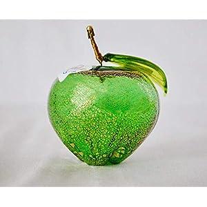 Authentic Murano Glass Blown Apple, Green 87