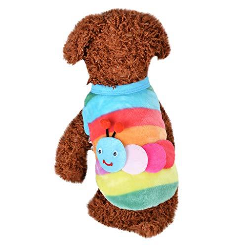 DEESEE(TM)Cute Dog Cat Puppy Clothing Sweater Caterpillar Soft Pet Cat Coats (XS) ()