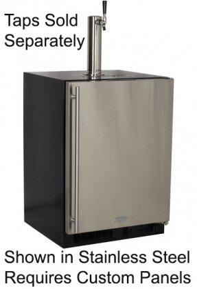 Dispenser Custom Panel (Marvel ML24BNP2RP Indoor Draft Beer Dispenser Cabinets Panel Ready Overlay Door, 24