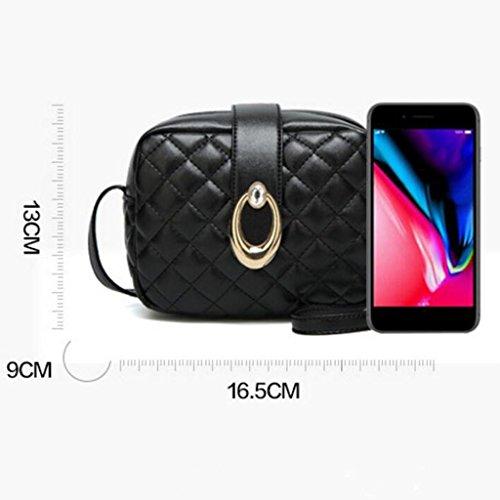 Giallo Libera Moda Il Trend Colore Donne Spalla Messenger Gkkxue Bag Di Plaid Della colore Le Giallo xw80xqpFZn