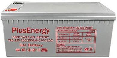 Batería 250Ah solar GEL 250Ah / 12v PlusEnergy TPG250 descarga muy profundo