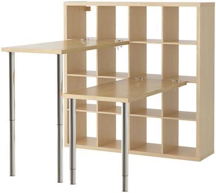 IKEA KALLAX - combinación de escritorio, efecto abedul - 147 ...