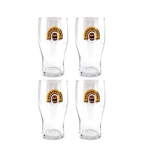 Boddingtons Beer Tulip Pint Glass - Set of 4 Glasses