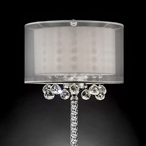 """Furniture of America L9149T Lila 78.5"""" Silver Table Lamp Miscellaneous-Others"""