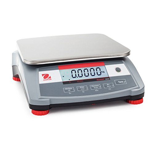 Scale 3000 (OHAUS R31P30 Ranger 3000 Compact Bench Scale 30kg x 1G, Fluid_Ounces, Degree C, Plastic, Stainless Steel,, ()
