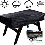 NEVERLAND Foosball Table Cover, Outdoor Waterproof Dust Rectangular Patio Coffee Chair Billiard Soccer Cover Black 63 x 45 x 19.7inch