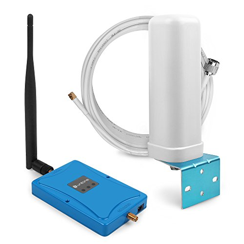 850MHz Wireless Cellular Call Signal Booster Powerful 2g/3g 64dB Mobile Phone Repeater+ Omni Directional Antenna for Voice & Data (whip+omni directional) by UUNITONA