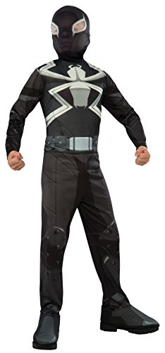 UHC Boy's Agent Venom Marvel Superhero Fancy Dress Child Halloween Costume, Child L (12-14)