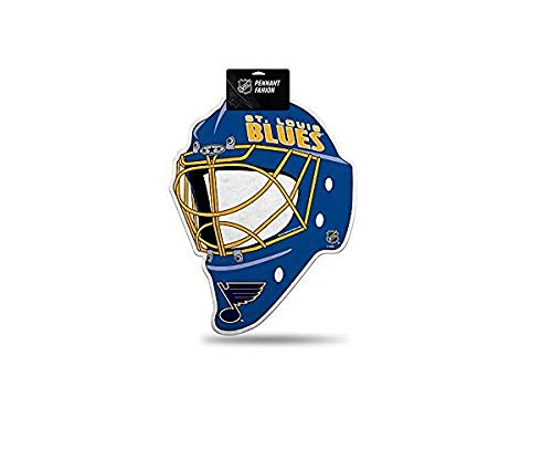 Rico Industries NHL St. Louis Blues Goalie Mask Shaped Pennant, 13 x 17-inches