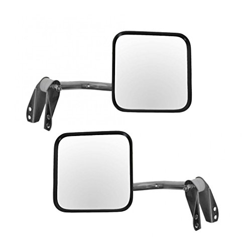 Manual Side Mirrors Pair Set Left & Right LH RH for 53-86 Jeep CJ DJ