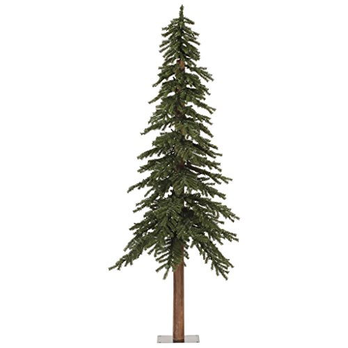 Vickerman Natural Alpine Tree-Unlit, 7-Feet, Green