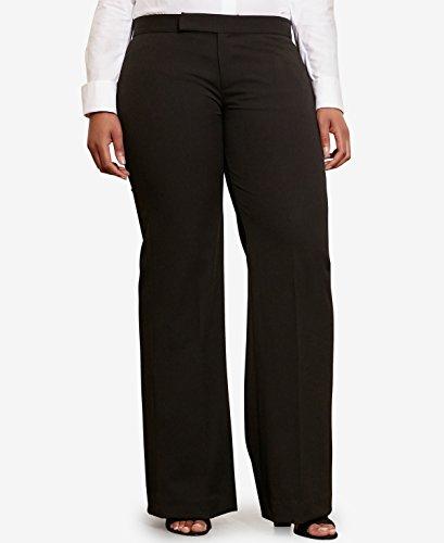 Lauren Ralph Lauren Womens Plus Flared Pleated Casual Pants Black - Ralph Buy Lauren Cheap