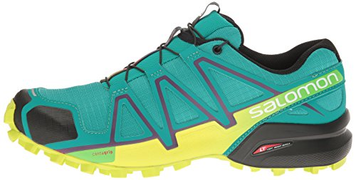 Salomon Women's Speedcross 4 W Trail Runner, Deep Peacock Blue/Lime Punch./Grape Juice, 5 B(M) US by Salomon (Image #5)