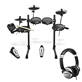 Alesis Turbo Mesh 7 Piece Electronic Drum Kit With a Pair of Drum Sticks + Headphones + 3.5 mm Interconnect Cable, 10…