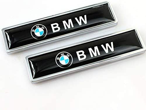 Rear Metal Sticker for ALL Models BMW E30 E36 E46 E34 E39 E60 E65 E38 X3 X5 X6 3 4 5 6 7 8 Side Emblem 2 Pcs Metal Decorative Logo BMW 3D Metal Decal,BMW Fender Trunk Badge