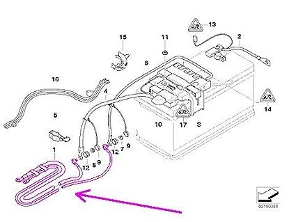 amazon com bmw e90 e91 e92 e93 dual battery cable positive BMW E46 Wiring Harness