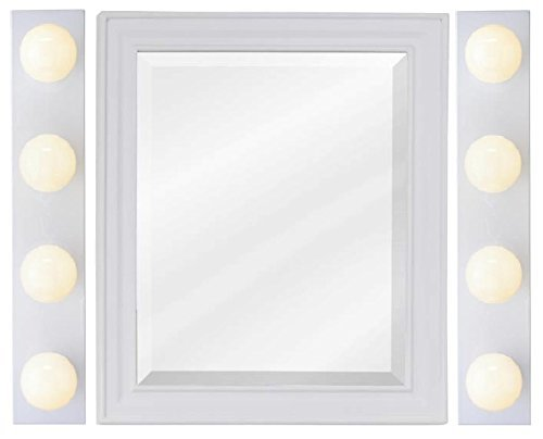 Westinghouse 6659500 4-Light Interior Bath Bar, White Finish (Four Light - 2 (Light Bath Vanity Lighting)
