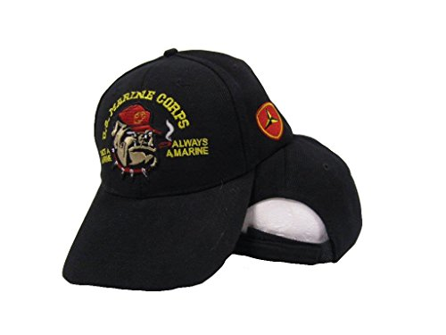 USMC Bulldog Once a Marine Always a Marine 3rd Division Embroidered Hat Cap (Hat Division Marine)