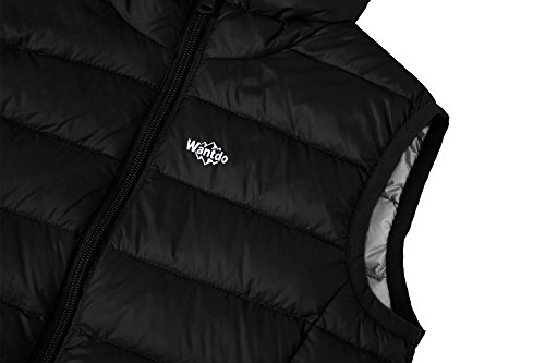 Lightweight Wantdo Down Sleeveless Vest Boy's Black Puffer Hooded Jacket Packable BqrnF0Iwr