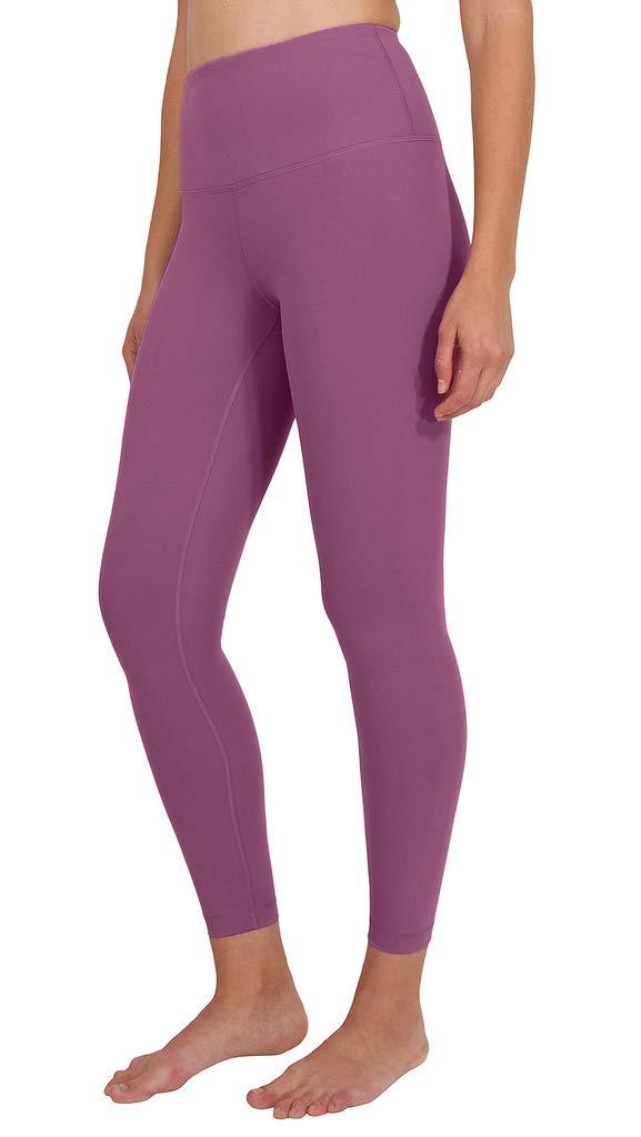 90 Degree By Reflex High Waist Power Flex Legging - Tummy Control - Candy Blush Ankle - Medium by 90 Degree By Reflex