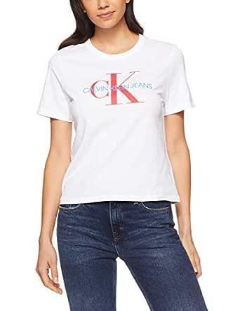 Calvin Klein Women's Cropped Logo Tee, Standard White(White), Small