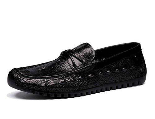 Herren Lederschuhe Herren Lederschuhe faule Schuhe britischen Stil  atmungsaktiv Freizeit Herrenschuhe ( Farbe : Braun ,