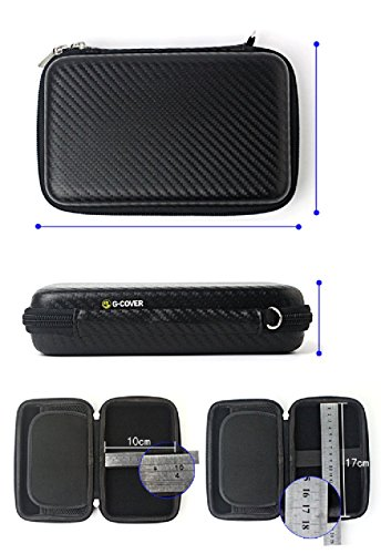 Chihom Travel Wallet Electronics Organizer, Portable Waterproof Hard Carrying Case Universal Electric Accessories Hand Bag for Various USB, Phone, Charger and Cable, Black by Chihom (Image #3)