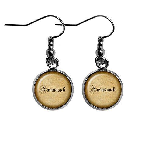Saxon Sasunnach Old Gaelic Spelling Surgical Steel Earrings