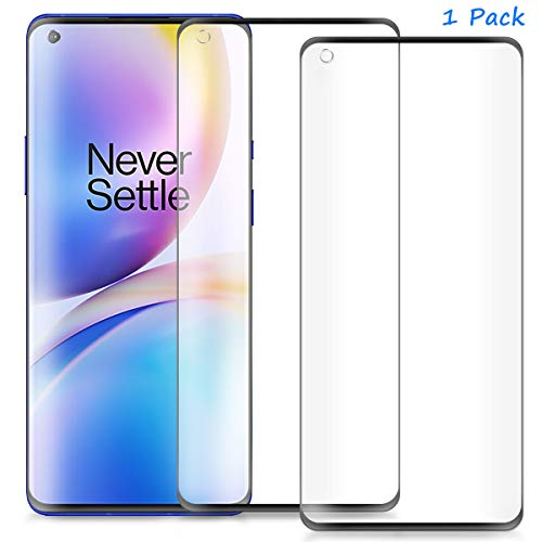FanTing for OnePlus 8 Screen Protector,[9H Hardness,Full Coverage,No bubbles and fingerprint],Scratch-resistant high-quality tempered glass film for OnePlus 8-Black(1 Pack)