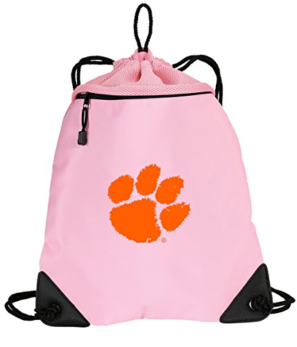 Broad Bay Cute Clemson Tigers Drawstring Backpack Ladies Clemson University Cinch Bag - UNIQUE MESH & (Clemson String Pack)