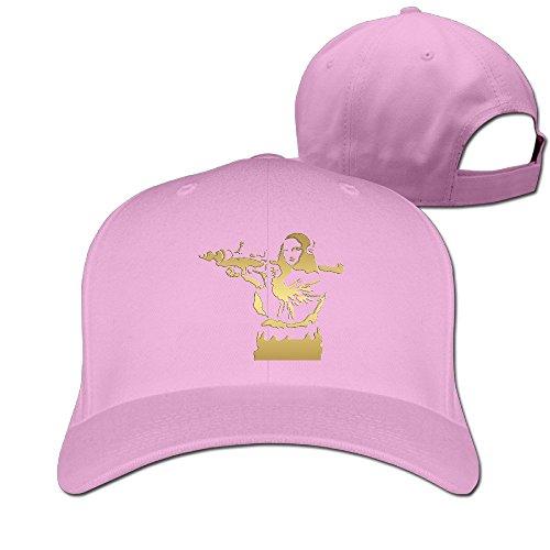 Golden Mona Lisa Bazooka Solid Color Cap Unisex Pink
