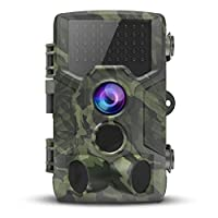 VICTONY Trail Camera,1080P 16MP HD Wildlife Game Hunting Cam with Motion Activated Night Vision, 120° Wide Angle Lens,IP65 Waterproof Wildlife Camera for Outdoor Surveillance