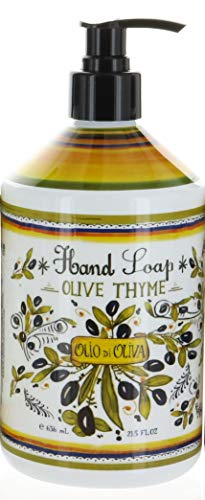 Italian Deruta Hand Soap, Olive Thyme, 21.5 FL OZ By Home & Body Company
