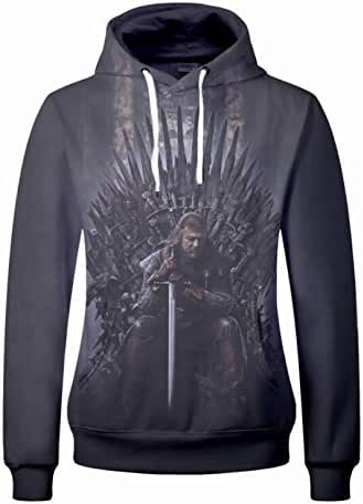 Game of thrones 3D printing sport with hooded comfortable leisure sweatshirt tops-XL
