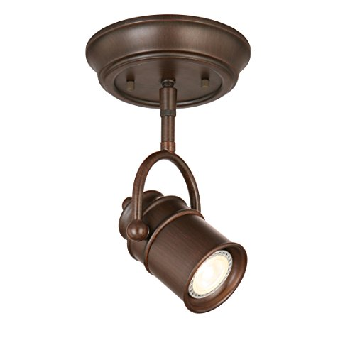 Design House 578047 Sheridan Single-Light LED Directional Ceiling Light, Oil Rubbed Bronze Bronze Sheridan Single