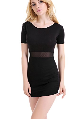 Sheer Little Black Dress - 5