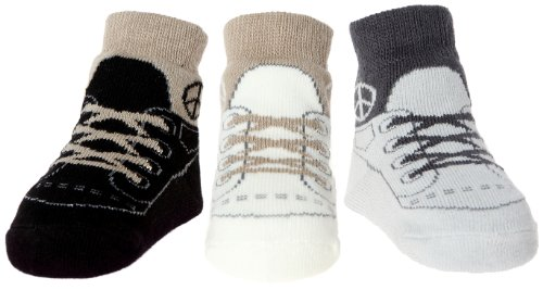 Baby Infant Boy Socks Ant-Slip Soles 3 Pairs - Cotton Baby Shower Gift - 0-9 Months