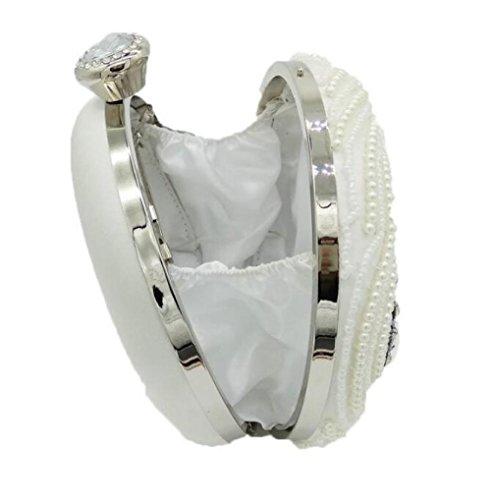 de sac noce haut White sac main perlé Shimmer Sacs Dinner main à pour embrayage à paquet femmes la de la sac soirée gamme Ap11qdZ