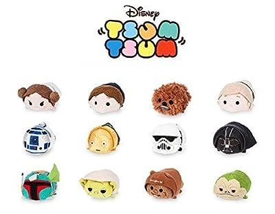 "Disney Tsum Tsum ""Star Wars"" Complete Set of 12 mini 3.5"""