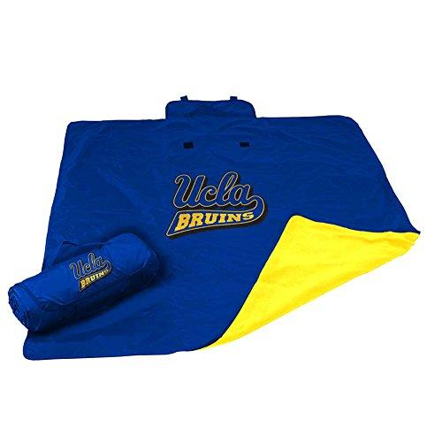 NCAA UCLA (U of CA Los Angeles) All Weather Blanket, One Size, Multicolor (Stadium Logo Embroidered Blanket)