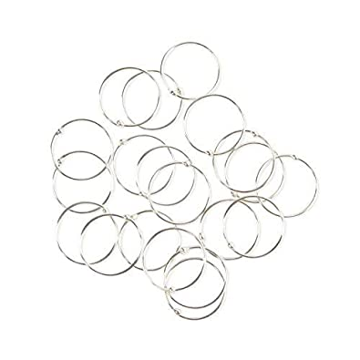 0e570c9526d3a Pack of 20 VERY SMALL & EXTRA THIN 925 Sterling Silver Nose Rings size 8mm  gauge 0.5mm