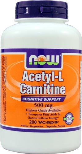 NOW Foods Acetyl-L-Carnitine -- 500 mg - 200 Vcaps® - 3PC by NOW Foods