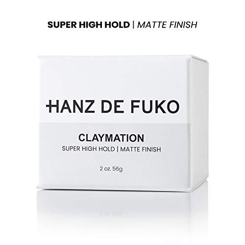 Hanz de Fuko Claymation- Premium Mens Hair Styling Clay with Matte Finish (2 oz) Cruelty Free 5