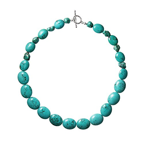 Franki Baker naturel &plastron Turquoise-en argent Sterling 925 Longueur du collier: 51